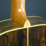 Satin lacquer finish on the neck with boxwood heel cap.