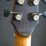 The back of the peghead was veneered in bookmatched ziricote. Ryan tuners made by Gotoh are amazingly smooth.