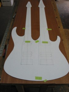 Custom double neck guitar design