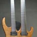 Completed double neck guitar