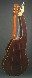 Back Side of 21 string Hollow Arm Harp Guitar