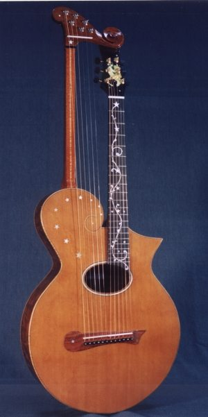A modern custom Harp Guitar based on the Gibson Model U