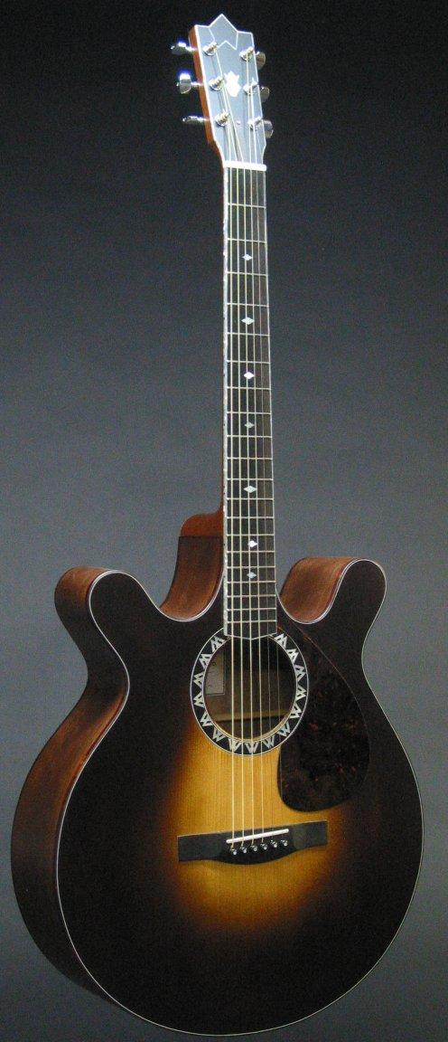 double cutaway acoustic guitar worland custom guitars. Black Bedroom Furniture Sets. Home Design Ideas