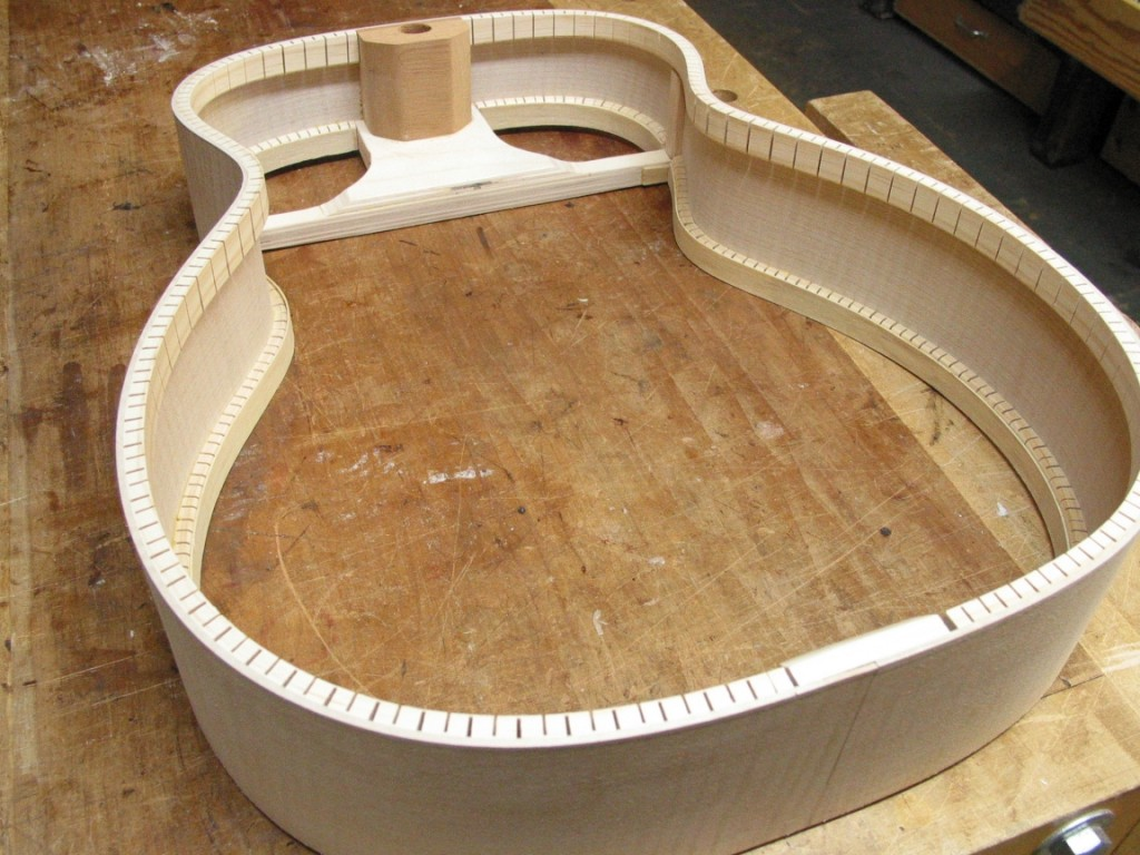 The completed rim. Very strong and rigid. The top, back and neck will attached to the rim.