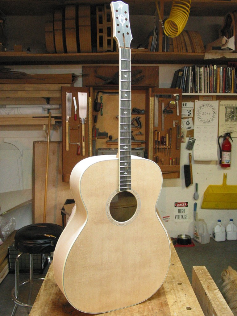 The mandocello ready for finish.